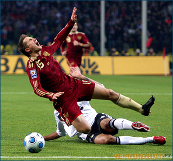 Russia vs Germany (2010 World Cup Qualifiers)