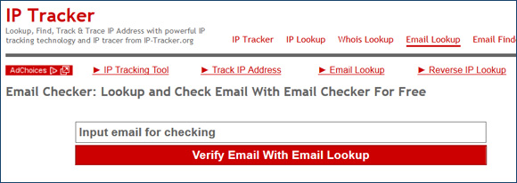 IP Tracker Email Lookup