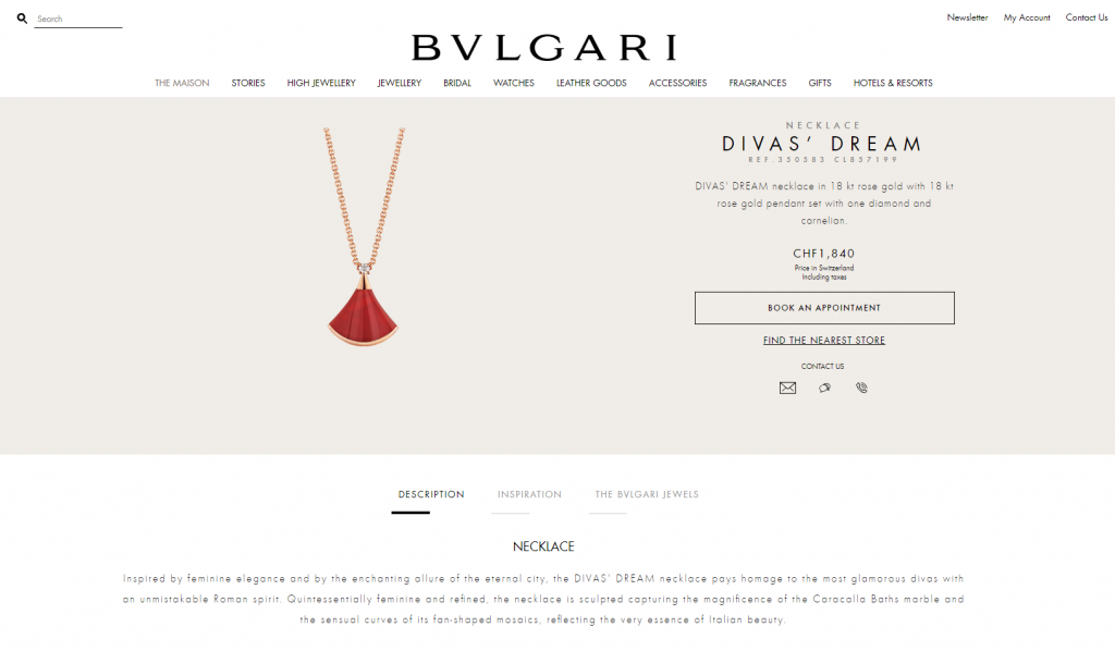 Bvlgari product description